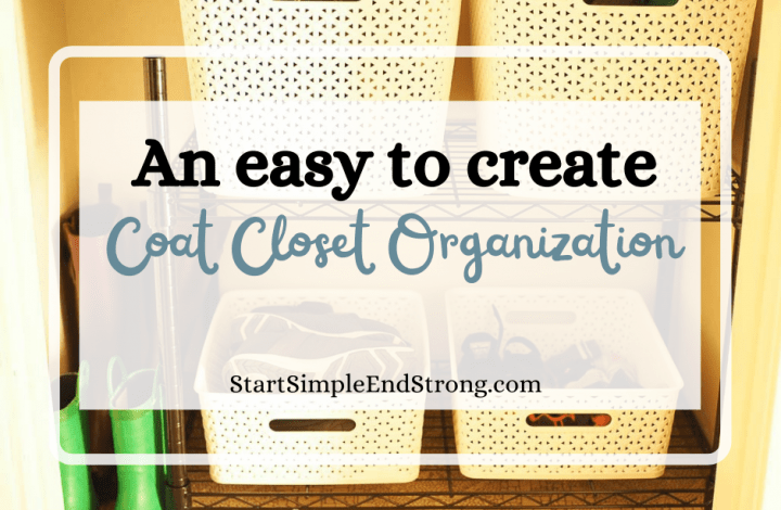An easy to create Coat Closet Organization