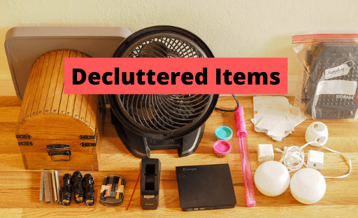decluttered items from my latest decluttering