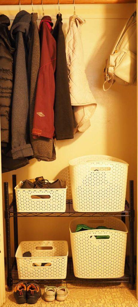 easy to create coat closet organization