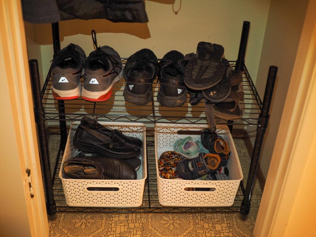 rearrange the closet as needed