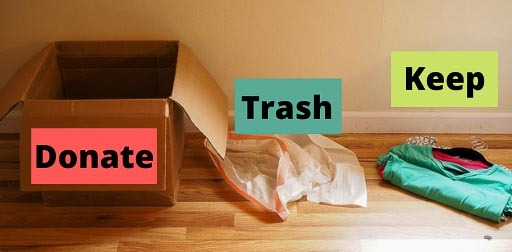 sort as you work on clutter free closets