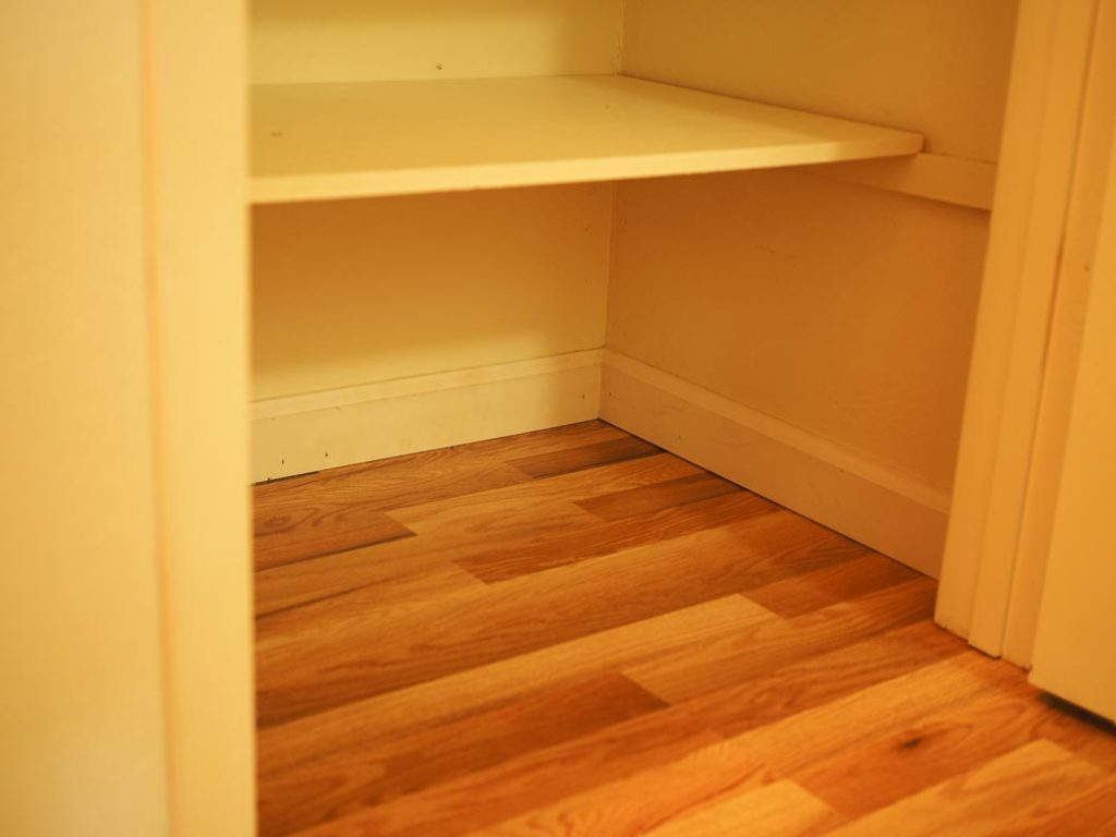 reduce the amount for clutter free closets