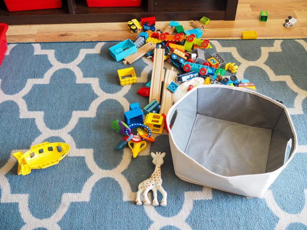 rule #4: must clean up toys to help with decluttering toys
