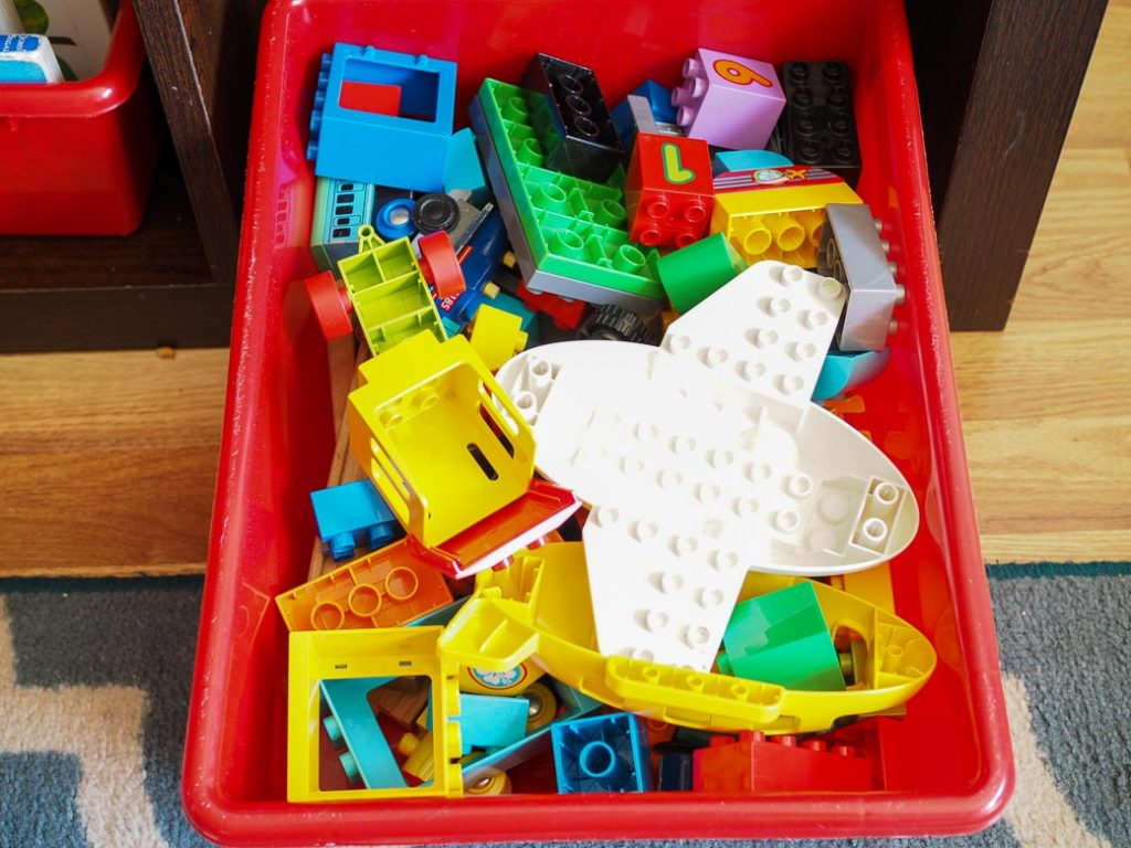 declutter toys and avoid stepping on Legos