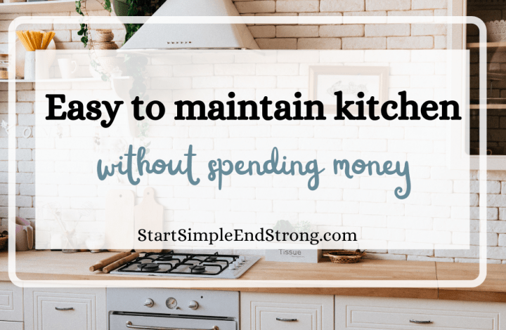 Easy to maintain kitchen without spending money