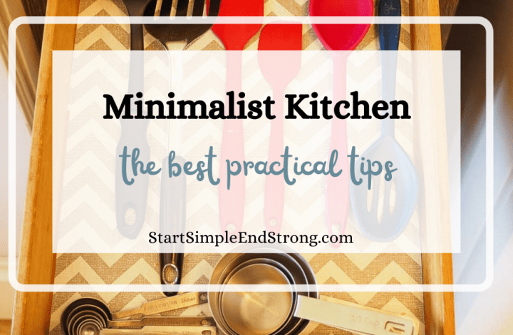practical tips for a minimalist kitchen