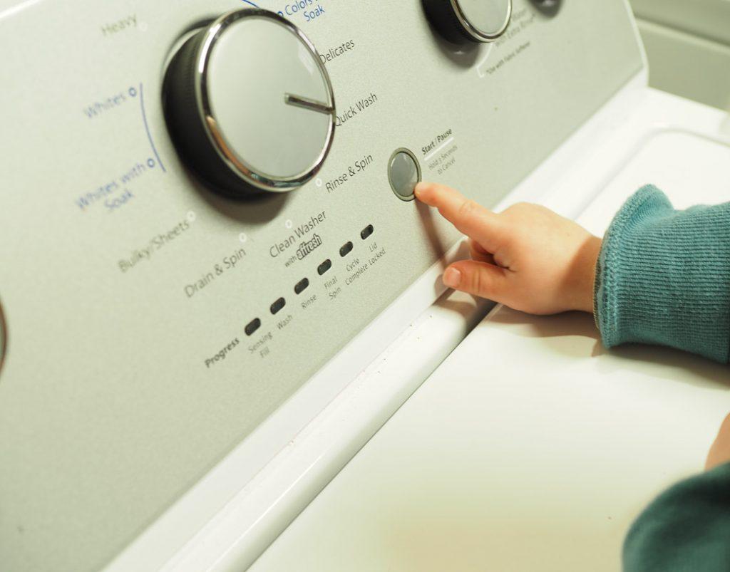 starting the laundry machine