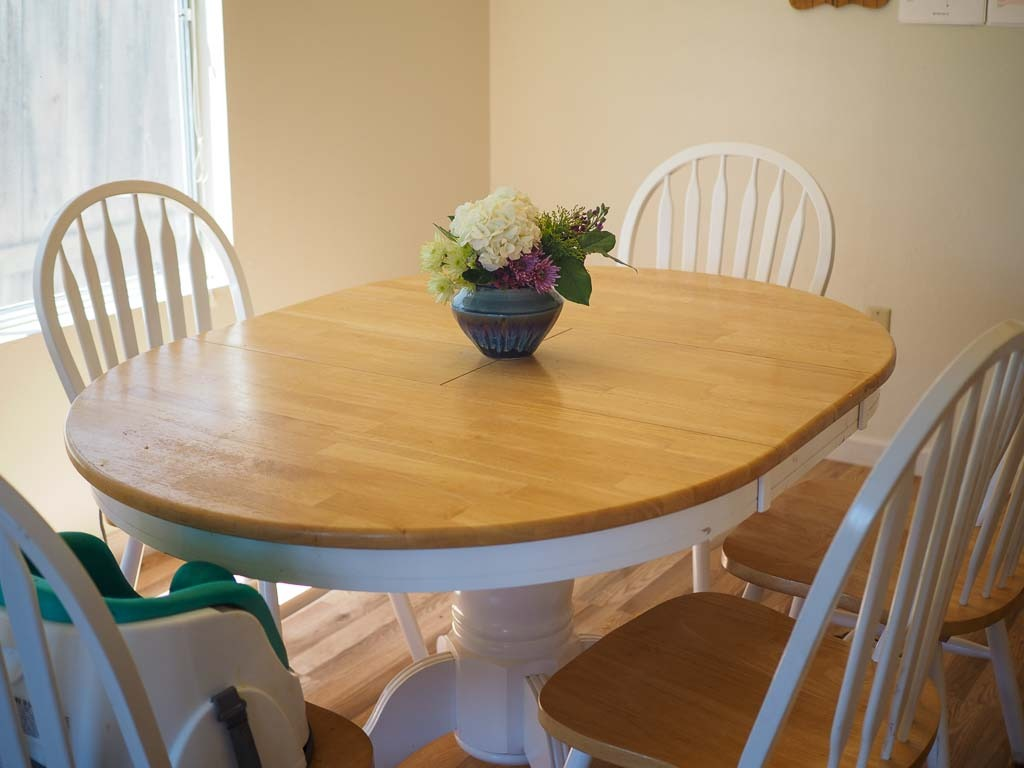 table with chairs in the dinning room