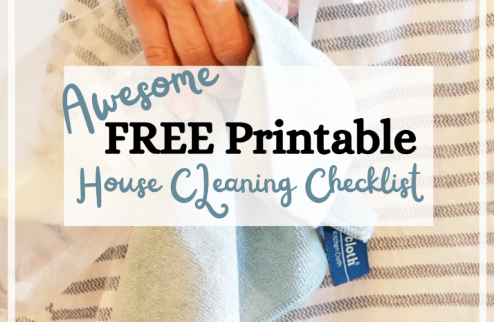 FREE_Pinterest Templates_House cleaning printable