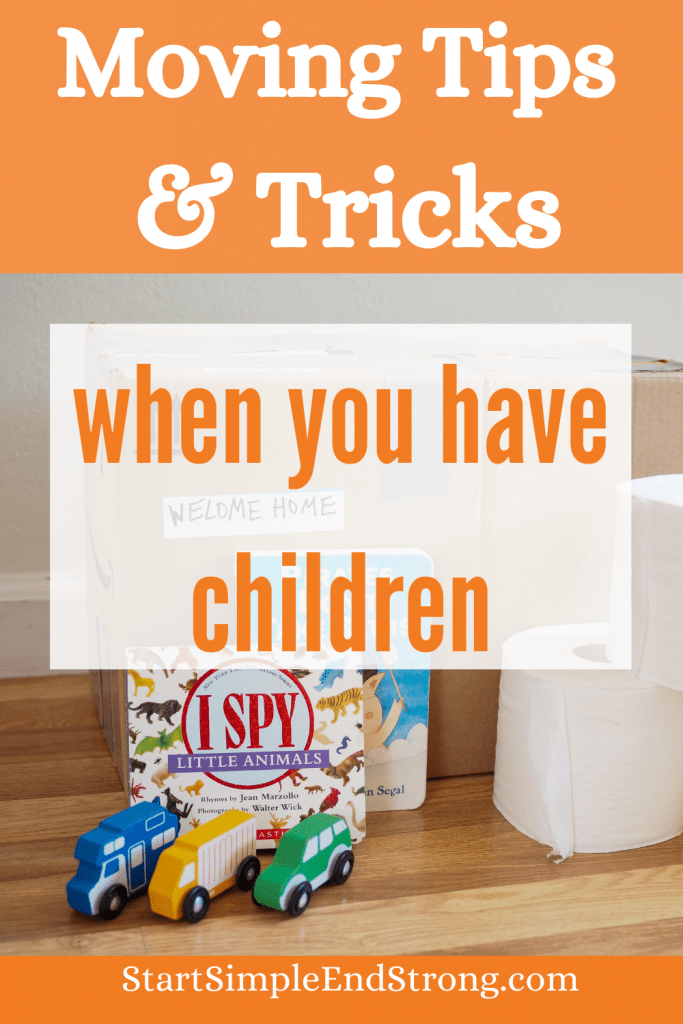 moving tips & tricks when you have children Pinterest pin