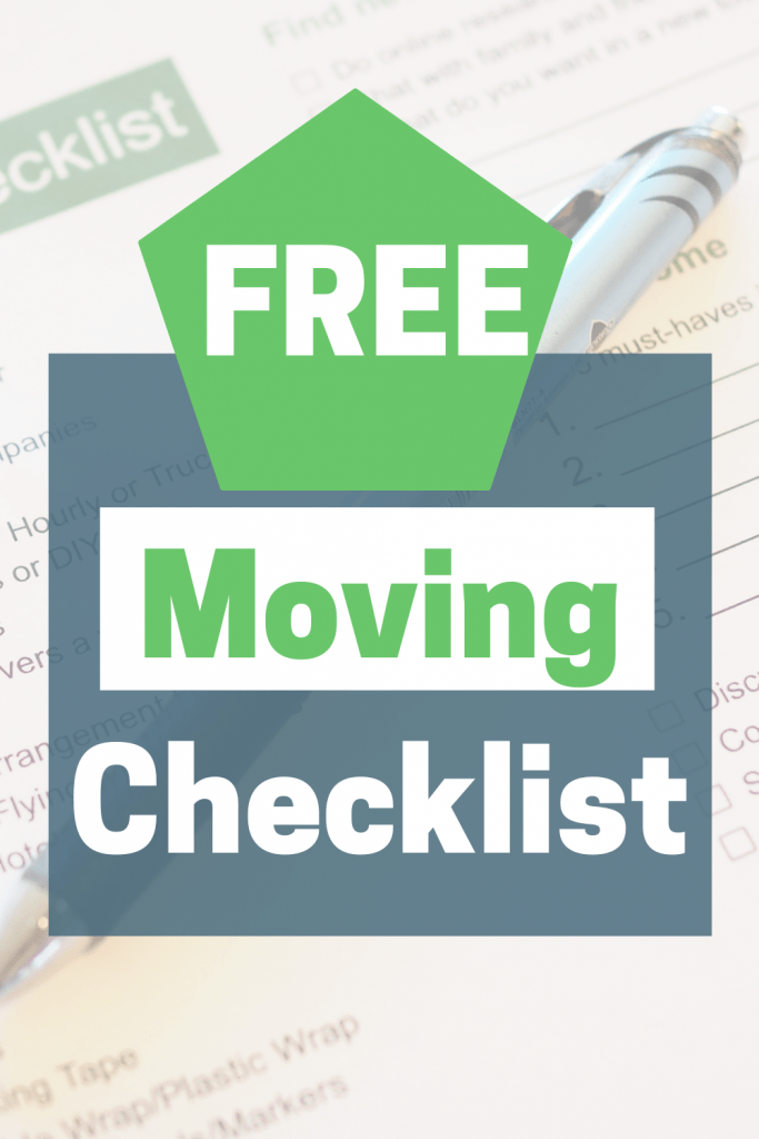 Pinterest graphic free moving checklist