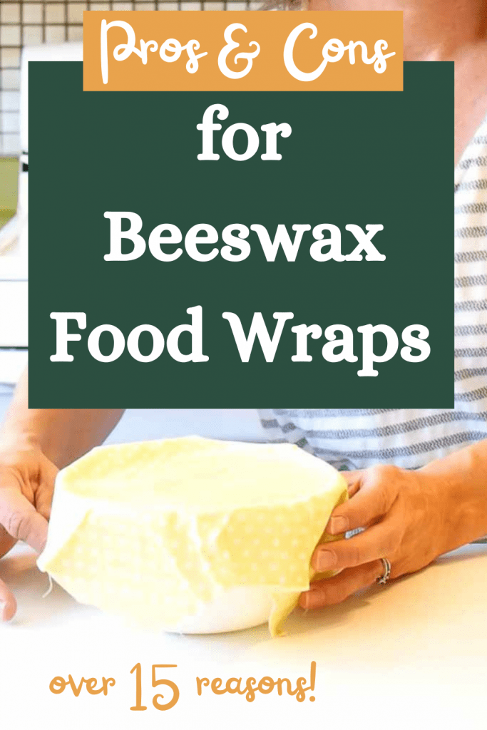 pro and cons for beeswax food wraps Pinterest image