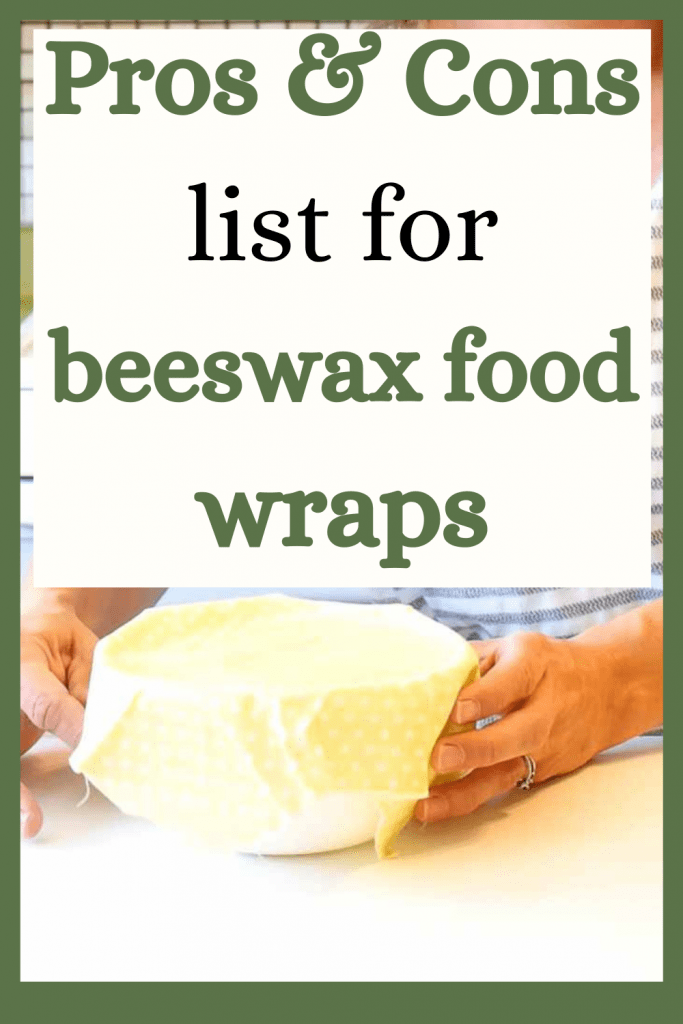 pros and cons list for beeswax food warps